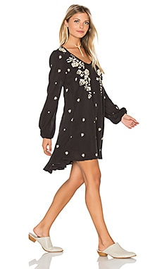 Sweet Tennessee Embroidered Dress in Black Combo