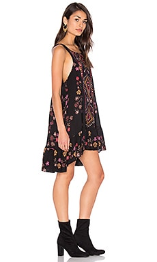 Annka Boarder Slip Dress in Black Combo