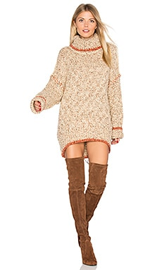 Echo Pullover Dress in Cream