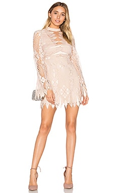 Deco Lace Mini Dress in Ivory Combo