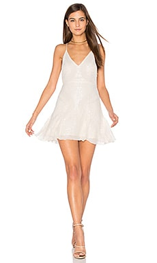 Sparklette Mini Dress in Ivory