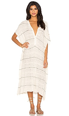 Whispering Wind Poncho Dress in Cream Combo