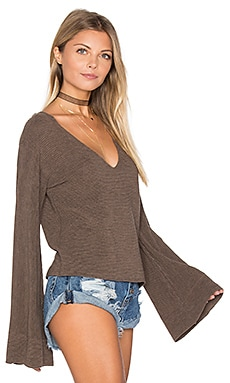 Starman V Pullover Top in Brown