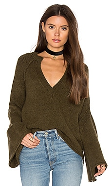 Lovely Lines Pullover in Olive