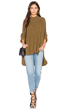 Spin Around Poncho Top in Moss