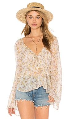 Uptown Bell Sleeve Top in Ivory