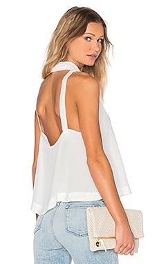 City Lights Cowl Top in Ivory