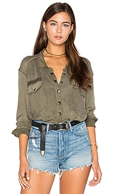 Monday Morning Top in Olive