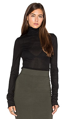 Modern Cuff Layering Top in Black