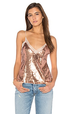 Sassy Sequins Cami in Rose