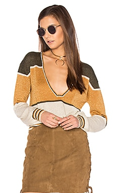 Gold Dust Pullover Top in Moss