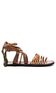 Willow Sandal in Tan & Safari
