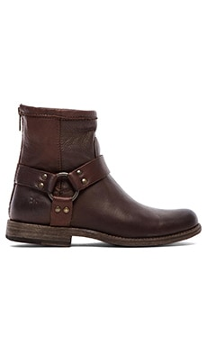 Phillip Harness Boot in Dark Brown