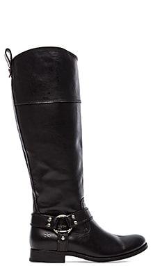 Melissa Harness Inside Zip Boot in Black