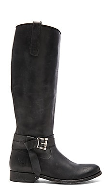 Melissa Knotted Tall Boot in Black