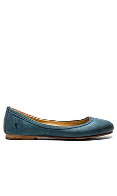Carson Ballet Flat in Jeans