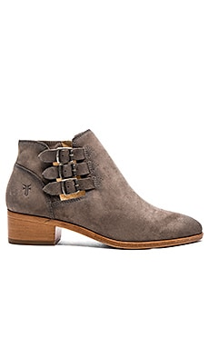 Ray Belted Bootie in Dark Grey