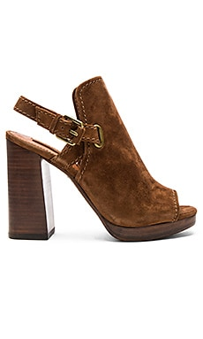 Karissa Shield Sling Sandal in Wood