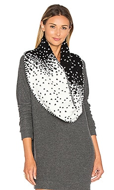 Dakota Scarf in White & Black