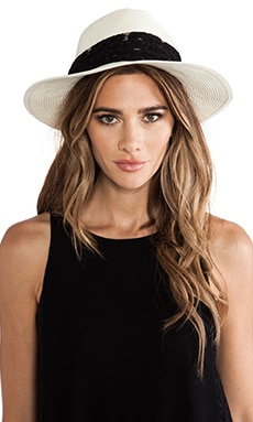 Wide-Brimmed Fedora in Ivory