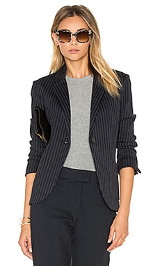 Blazer in Navy Pinstripe
