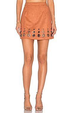 Studded Skirt in Brown