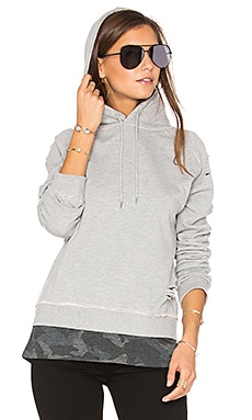 Leo Hoodie in Gray With Gray Camo