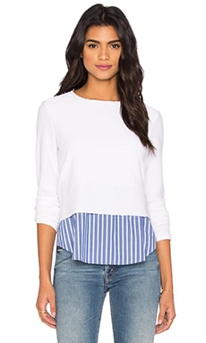 Sammy Stripe Top in Blue & White