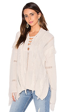Ryley Lace Up Sweater in Calypso