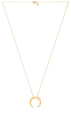 Cayne Crescent Pendant Necklace in Gold