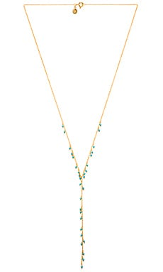 Lagoon Lariat Necklace in Gold & Turquoise