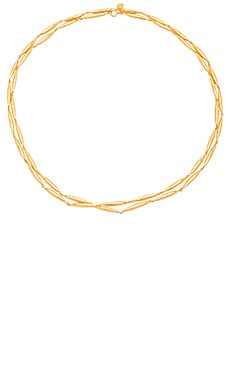 Emma Wrap Necklace in Gold