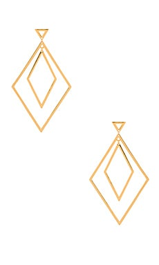 Liv Double Drop Hoops in Gold