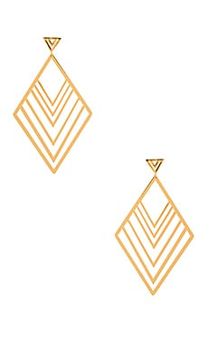 Liv Tiered Drop Hoops Earring in Gold