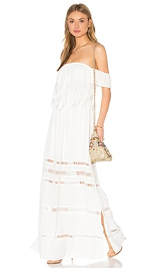 Fatina Off Shoulder Maxi Dress in White