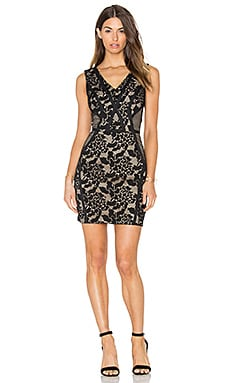 Sueann Lace Mix Dress in Black