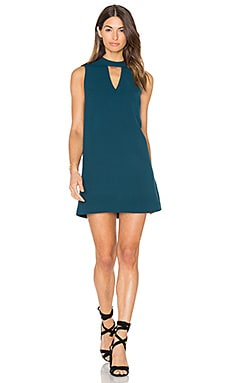 Dawnson Mock Neck Shift Dress in Everglade