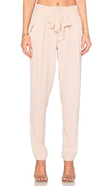 Thalia Belted Pant in Taupe