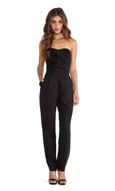 Lawrence Strapless Jumpsuit in Black