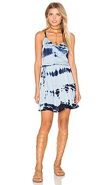 Strappy Cross Back Tie Waist Dress in Tiegs Ocean