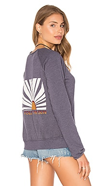 Unfinished Edge Boat Neck Sweatshirt in Padma Atlantic