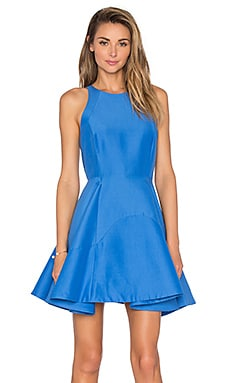 High Neck Dress in Light Cobalt