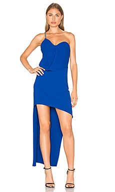 One Shoulder Drape Dress in Royal Blue