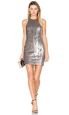Sequined Dress in Antique Silver