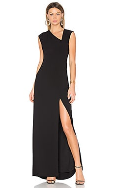 Asymmetrical Gown in Black