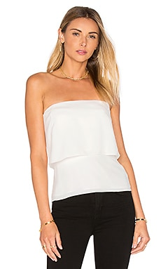 Strapless Flounce Top in Chalk