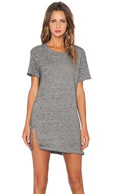 Vintage Burn Out Oversized Tee Shirt Dress in Granite