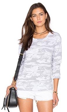 Neutral Camo Crewneck Sweatshirt in White
