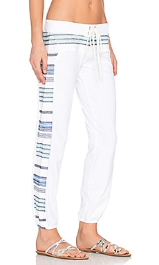 Burlap Stripe Vintage Sweatpant in White