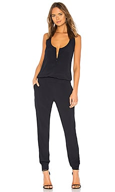 Crepe Basic Romper in Neptune